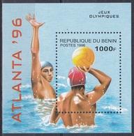 Benin Dahomey 1996 Sport Spiele Olympia Olympics Atlanta Ballsport Wassersport Wasserball Waterpolo, Bl. 14 ** - Benin – Dahomey (1960-...)