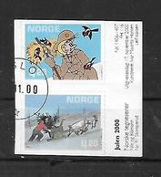 Norwegen  2000  Mi 1362 - 1363  Weihnachten: Comics  Gestempelt - Norwegen