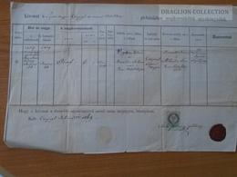 ZA174.2  Old Document - Hungary  Csepregh Csepreg - Sopron Megye - Vajda István -Basika Julianna - 1869 - Naissance & Baptême