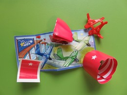 063 - Kinder Surprise - Go Move - Avions En Papier - Avion Rouge - EN220A + BPZ - 2018 - Montables
