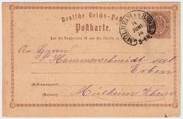 """1874, Hufeisen """" Mühlheim A. D. Ruhr """" Sehr Klar ! , #a1821 - Deutschland"""