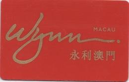 Carte Membre Casino : Wynn Macau Macao 永利澳門 - Cartes De Casino