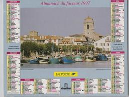 CALENDRIER ALMANACH DES PTT 1997 ST JEAN DE LUZ GOEMONIERS A PLOUGUERNEAU - Calendars