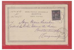 FRANCE --COLONIES -- ALEXANDRIE --10c SAGE SURCHARGE -- SUR CP -- 1901-- - Alexandria (1899-1931)