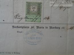 ZA174.6  Old Document - Slovenia - Maribor - Marburg An Der Drau  -  Anna Pirsch - (Pirsch  Pachernik)  1884 - Birth & Baptism