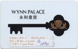 Carte Clé Hôtel Avec Casino Adjoint : Wynn Palace 永利皇宮 Lettres En Noir - Hotelkarten