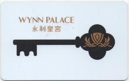 Carte Clé Hôtel Avec Casino Adjoint : Wynn Palace 永利皇宮 Lettres En Or - Cartes D'hotel