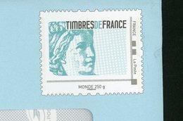 """FRANCE - PERSONNALISÉS - LOGO """"TIMBRES DE FRANCE - SABINE"""" (ENTIER) -  N° Yvert  (PHILAPOSTE)  LETTRE MONDE 250g NON - France"""