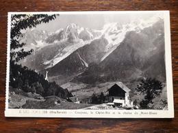 Les Houches. Coupeau , Le Christ Roi Et La Chaine Du Mont Blanc - Les Houches