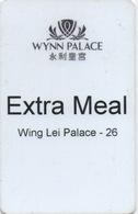 Carte Repas Hôtel Avec Casino Adjoint : Wynn Palace 永利皇宮 Extra Meal - Cartes D'hotel