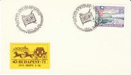 Ungarn  1971  Karte/ Card  Sonderstempel   BUDAPEST , AIJP- Kongress  -  100 Jahre Ungarische Briefmarken - Marcophilie