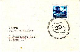 Ungarn  1969  Miniaturbrief/ Little Letter  Sonderstempel   BUDAPEST , 25 Jahre VR Polen - Marcophilie