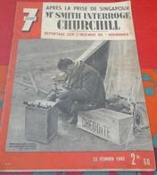 """WW2 7 Jours N°68 22 Février 1942 Incendie Du """"Normandie"""",Prise De Singapour,Train Méditerranée-Niger,Australie - 1900 - 1949"""