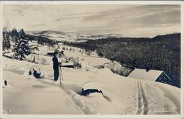 1938 , NORUEGA , LYSAKEN - UBERSFELD , TARJETA POSTAL CIRCULADA - Noruega