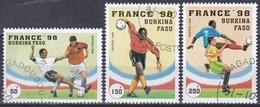 Burkina Faso Obervolta 1996 Sport Spiel Fußball Football Soccer WM FIFA Frankreich France, Mi. 1427-9 Gest. - Burkina Faso (1984-...)