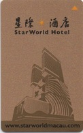 Carte Clé Hôtel Avec Casino Adjoint : Star World - HOTEL : Www.starworldmacau.com - Cartes D'hotel