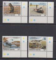 Falkland Islands 1987 Royal Engineers 4v (corners) ** Mnh (41725) - Falklandeilanden