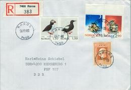 1988 , NORUEGA , SOBRE CERTIFICADO , ROROS - MERSEBURG - Noruega