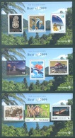 NEW ZEALAND - 2010 - MNH/** - BEST OF 2009 - Mi  3 MINISHEETS -  Lot 18936 - PLEASE SEE DESCRIPTION - Blocs-feuillets