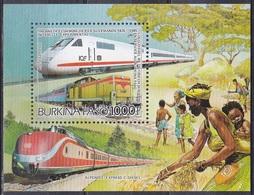 Burkina Faso Obervolta 1986 Transport Eisenbahnen Railways Lokomotiven Trains Intercity Diesel-Lok, Bl. 120 ** - Burkina Faso (1984-...)