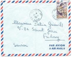 ENVELOPPE PAPEETE ILE DE TAHITI 1961 POUR FRIBOURG SUISSE - Tahiti