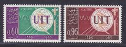 ALGERIE N°  409 & 410 ** MNH Neufs Sans Charnière, TB (D8400) Cosmos, Union Internationale Des Télécommunications - 1965 - Algeria (1962-...)