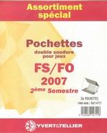 Yvert Et Tellier - ASSORT. De POCHETTES FS/FO 2E SEMESTRE 2007 (Double Soudure) - Bandes Cristal