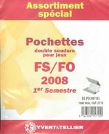 Yvert Et Tellier - ASSORT. De POCHETTES FS/FO 1er SEMESTRE 2008 (Double Soudure) - Bandes Cristal