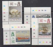Falkland Islands 1988 Lloyds 4v (corners) ** Mnh (41725E) - Falklandeilanden