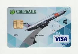 Sberbank RUSSIA AVIO Russian Air Force VISA VOID - Geldkarten (Ablauf Min. 10 Jahre)