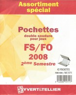 Yvert Et Tellier - ASSORT. De POCHETTES FS/FO 2e SEMESTRE 2008 (Double Soudure) - Bandes Cristal