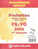 Yvert Et Tellier - ASSORT. De POCHETTES FS/FO 1er SEMESTRE 2009 (Double Soudure) - Bandes Cristal