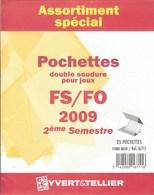 Yvert Et Tellier - ASSORT. De POCHETTES FS/FO 2e SEMESTRE 2009 (Double Soudure) - Bandes Cristal