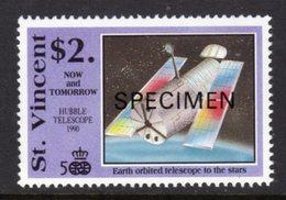 ST VINCENT - 1991 COLUMBUS ANNIVERSARY $2 SPACE STAMP O/P SPECIMEN FINE MNH ** SG1682 - St.Vincent (1979-...)