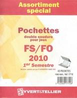 Yvert Et Tellier - ASSORT. De POCHETTES FS/FO 1er SEMESTRE 2010 (Double Soudure) - Bandes Cristal