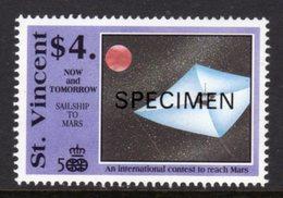ST VINCENT - 1991 COLUMBUS ANNIVERSARY $4 SPACE STAMP O/P SPECIMEN FINE MNH ** SG1683 - St.Vincent (1979-...)