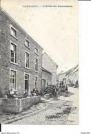 Treignes - L'Hôtel Du Commerce - Animée - Ed: Hubot Soeurs - Circulé: 1911 - 2 Scans. - Viroinval