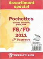 Yvert Et Tellier - ASSORT. De POCHETTES FS/FO 1er SEMESTRE 2011 (Double Soudure) - Bandes Cristal