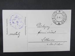 KARTE Vyskov - Cetkovice Portofreie Dienstsache ///  D*36363 - Briefe U. Dokumente