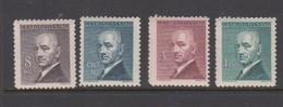 Czechoslovakia Scott 318-321 1946 Presedent Benes, Mint Hinged - Czechoslovakia