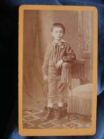 Photo CDV Baudon à Montpellier - Petit Garçon En Pied, Joli Costume Vers 1875 L421A - Anciennes (Av. 1900)