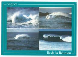 ILE DE LA REUNION - Vagues -Multivues (divers Types De Vagues Sur Côte Réunionnaise) - Photo AM Breger -Scan Recto-Verso - Autres