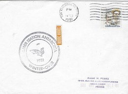 PALMER STATION ANTARCTICA  WINTER OVER  24 FEVRIER 1981 - Ross Dependency (New Zealand)