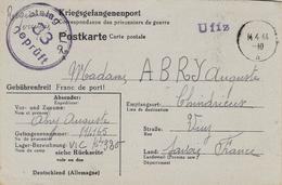 1944- Formulaire D 'un P G Du Stalag VI C Censure 33 Marqué Uffz Encre Violette - 2. Weltkrieg 1939-1945