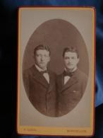 Photo CDV F. Cairol à Montpellier - Deux Jeunes Hommes ( Guibert  Bonnet) Vers 1875 L421A - Photos