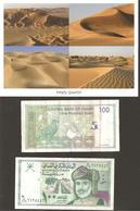 """""""retour D' OMAN""""  CP  Diversité Paysages  + 2 Billets PARFAIT ETAT R/V - Oman"""