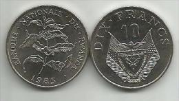 Rwanda 10 Francs 1985. High Grade - Rwanda