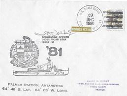 PALMER STATION ANTARCTICA  USCGC-POLAR STAR  29 DEC 1980 - Oblitérés