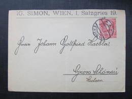 GANZSACHE Wien - Gross Schönau 1910 Privatganzsache   ///  D*36368 - Briefe U. Dokumente