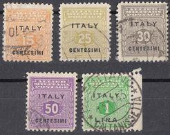 SICILIA, OCCUPAZIONE INTERALLEATA - 1943 - Cinque Valori Usati: Yvert 1/4 E 6. - Britisch-am. Bes.: Sizilien